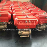 Pneumatic and Limited CF8m Thread End Ball Valve