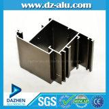 Profil en aluminium pour la porte de guichet avec l'enduit en bronze anodisé de poudre