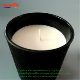 Candela su ordinazione nera del vaso della vernice di spruzzatura con il coperchio del metallo
