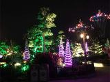 Espiral ao ar livre da luz da árvore de Natal da decoração do diodo emissor de luz para a decoração do feriado