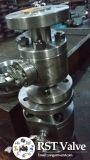Gesmede Roestvrij staal Van een flens voorzien 3PC Kogelklep