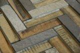新しい販売のゆとりのガラスブレンドの石のモザイクシェブロンのタイルパターン