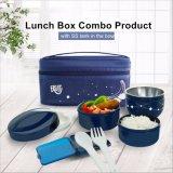 Contenitore di alimento di plastica della casella di pranzo di Bento con la forchetta ed il cucchiaio 20020
