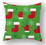 Het goedkope Decoratieve die Ontwerp van Kerstmis in de Decoratieve Kussens van de Dekking van het Hoofdkussen wordt afgedrukt