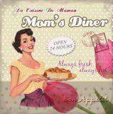 24 het Teken van het Tin van het Metaal van het Diner van het Mamma van het Restaurant van uren