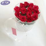 Cadre rond acrylique de luxe clair fait sur commande de fleurs