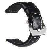 SamsungギヤS3フロンティアのための22mmの本革の時計バンドか標準的、22mmの革時計バンド