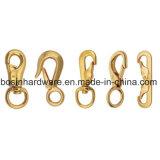 平らな二重端の固体黄銅のスナップのホック