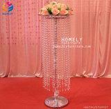 Candelabros cristalinos decorativos de lujo del metal del centro de vector Wedding las piezas centrales (HLY-CP015)