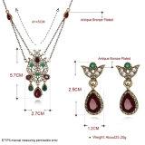 Серьги и ожерелье Zircon женщин ювелирных изделий конструкции способа Hotsale установленные