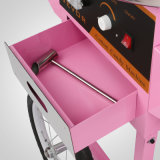 덮개와 손수레를 가진 아주 새로운 솜사탕 기계