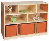 Kabinetten van de Opslag van de Lade van het Stuk speelgoed van jonge geitjes de Houten voor Kinderen (sf-131C)
