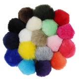tasto della catena del cappello del Pompom della pelliccia di Keychain della coda di Fox 100%Real