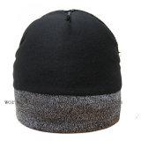 袖口のカスタムロゴの冬のブランク明白な編まれた帽子の帽子