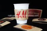 El sostenedor disponible del papel del té de la leche del café/previene las tazas de papel calientes fijadas