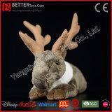 Le renne du père noël mou de jouet de caribou de peluche de peluche
