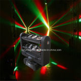 8PC*10W RGBW 4 in 1 LEIDENE Straal die van de Spin HoofdLicht bewegen