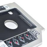 """2.5 """"ラップトップDVD-ROMユニバーサルHDDの容器9.5mmのためのSATA 3.0 HDDの容器12.7mm"""