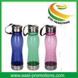 Nette einfacher Entwurfs-Plastikwasser-Flasche mit Stroh