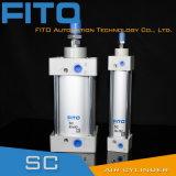 Sc50 시리즈 표준 공기 압축 공기를 넣은 실린더 ISO6430/Tie 로드 실린더
