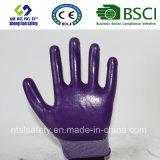 interpréteur de commandes interactif du polyester 13G avec les gants de travail enduits par nitriles (SL-N108)