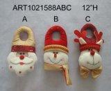 Regalo fornito di gambe espandentesi della decorazione di natale con il Sequin Greetings+Giftbag