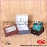 Cuscino all'interno del contenitore di vigilanza di cuoio dell'unità di elaborazione del lusso a forma di del quadrato