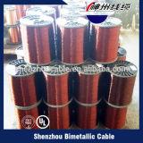 Alta tensão de rotura de arame de aço revestido de cobre AWG 18 Fabricado na China
