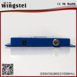 Amplificateur mobile de signal de GSM/WCDMA 900/2100MHz 2g 3G 4G avec l'antenne Logarithme-Périodique