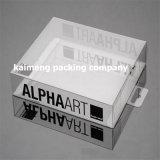 Design de luxo pacote dobrável Caixa de presente de plástico transparente com inserção de papel (caixa de presente de plástico)