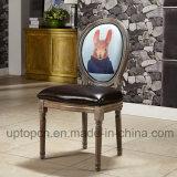 [فرنش] [ووودن فرم] مطعم طبع كرسي تثبيت مع حيوان ([سب-ك869])