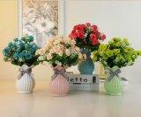 Pequeños floreros de cerámica de la manera del florero de la decoración de cerámica moderna europea del hogar Wedding el florero hecho a mano tablero de la decoración casera