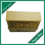 Caja de embalaje plegable del papel de Brown que expide Kraft para la taza
