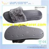 Pantoufle d'hiver de mode, pantoufle de fourrure confortable pour dames