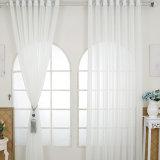 Rideau fin solide de toile en coton de salle de séjour (18F0093)