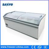 Congelador de caixa de vidro deslizante de tipo profundo