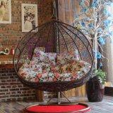 옥외 가구 우연한 간단한 작풍 알루미늄 등나무 거는 의자