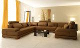 Grande sofà dell'ammortizzatore del Brown, grande strato di disegno del sofà di Seater (TG-5005)