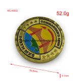 Pièce de monnaie militaire d'enjeu de couleur d'émail d'aigle en métal