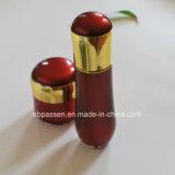 Bouteille crème acrylique neuve de lotion de choc de rouge/or pour les produits de beauté (PPC-NEW-105)