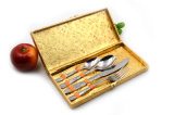 Tischbesteck-Rosen-Goldbesteck-gesetztes Abendessen-Set-Geschenk des Edelstahl-304