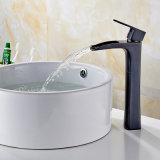 Flg bassin en laiton robinet frotté d'huile de pont de Bronze monté