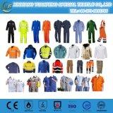 Uniformi stabilite 2017 dei vestiti dell'anti del lavoro dell'OEM di usura di lotta contro l'incendio di protezione tuta uniforme statica maschio di sicurezza