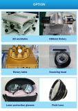Incisione dell'indicatore PVC/Leather di colore dell'acciaio inossidabile della macchina della marcatura del laser del metallo di CNC della fibra 20With30W di Ipg