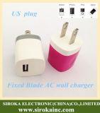 Высокое качество мы заряжатель 1A стены USB штепсельной вилки одиночный ый для iPad iPhone