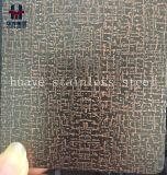 Нержавеющая сталь вытравила декоративный покрашенный лист