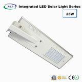25W Ce y RoHS Certificado PIR Sensor LED Solar Integrado / Luz de calle