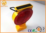 Bateria recarregável Solar LED Warning Light Barricade Lamp