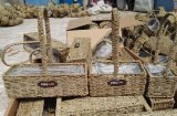 (BC-SF1016) Cesta ecológica de la flor de la paja hecha a mano respetuosa del medio ambiente