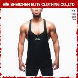 Magliette giro collo del poliestere del cotone dell'abito di modo di forma fisica degli uomini (ELTVI-7)